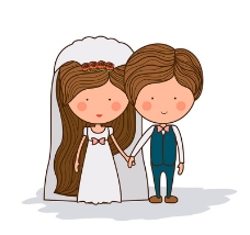 新娘新郎卡通形象