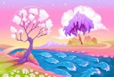梦幻童话春天的风景