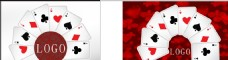 赌场 扑克 高端 红色背景