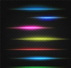 炫彩光线光晕素材