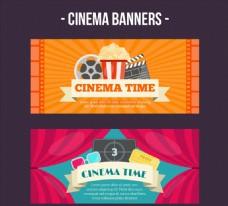 2款创意电影元素banner