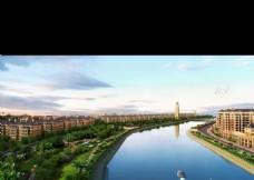 滨水景观设计效果图psd源文件