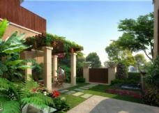 住宅景观设计效果图psd源文件