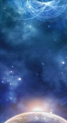 蓝色星球背景