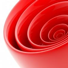 红色立体圆柱形背景图片