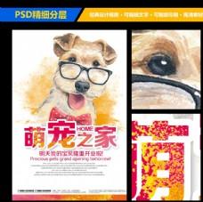 宠物店宣传海报展板设计