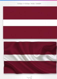 拉脫維亞國旗分層psd