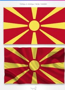 馬其頓國旗分層psd