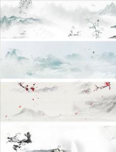 中国风复古水墨背景