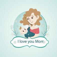 卡通母亲节快乐插图