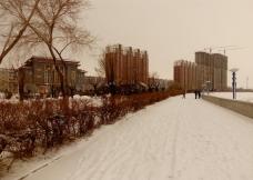 嫩江江边的冬天