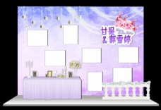 粉紫色照片展示區