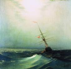 歐式海景油畫 風景油畫 手繪