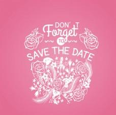 色玫瑰婚礼邀请卡