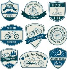 蓝色自行车标签图片