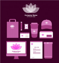 紫罗兰色企业形象素材