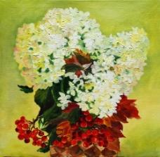 水彩花朵无框画图片