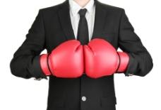 打拳击手套的职业人物图片