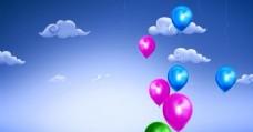 婚庆气球视频素材