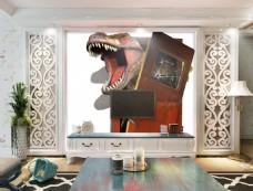 恐龙装饰背景墙