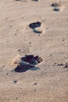 沙滩,度假,度假,沙滩,脚,夏天,足迹,步骤,孩子,孩子,线索,跟踪