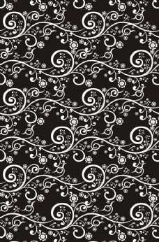 黑色花纹背景