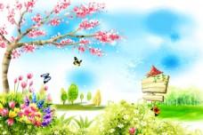 春季美景模板