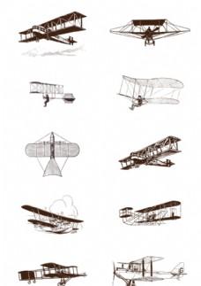 矢量手绘飞机