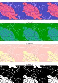 乌龟花纹素材背景