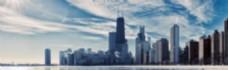 现代城市建筑背景banner