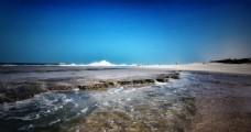 蓝色唯美意境海边