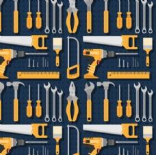 卡通五一劳动节工具背景